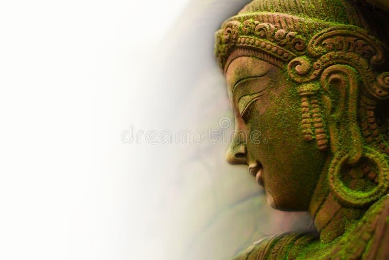 Dea leggiadramente dello stucco con muschio verde, immagini stock libere da diritti