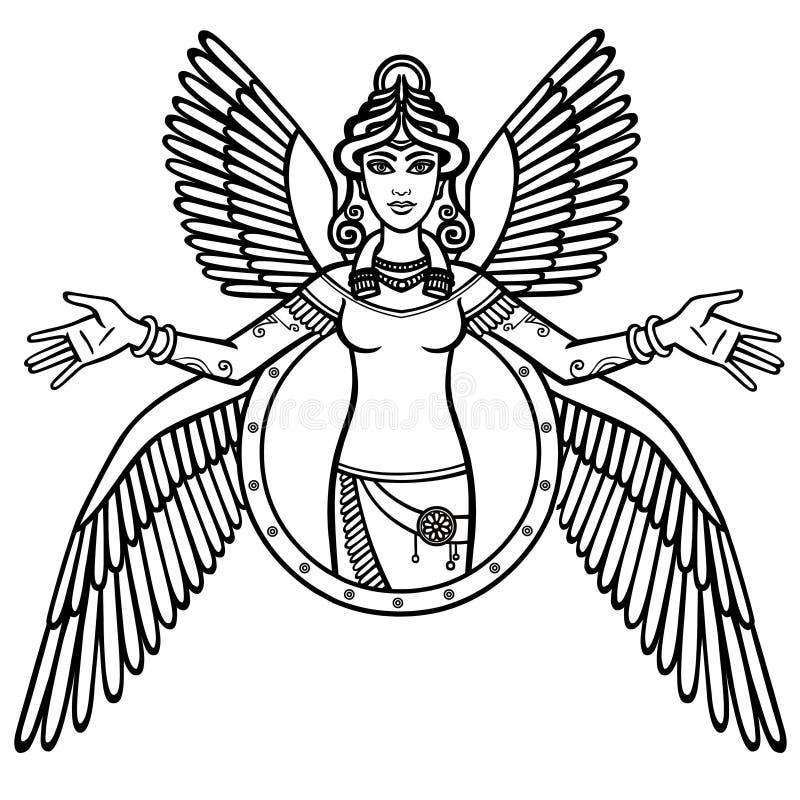 Dea stilizzata Ishtar royalty illustrazione gratis