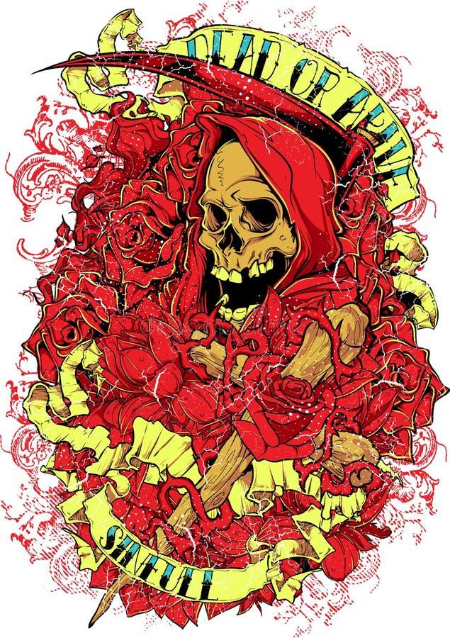 Dead or alive vector illustration