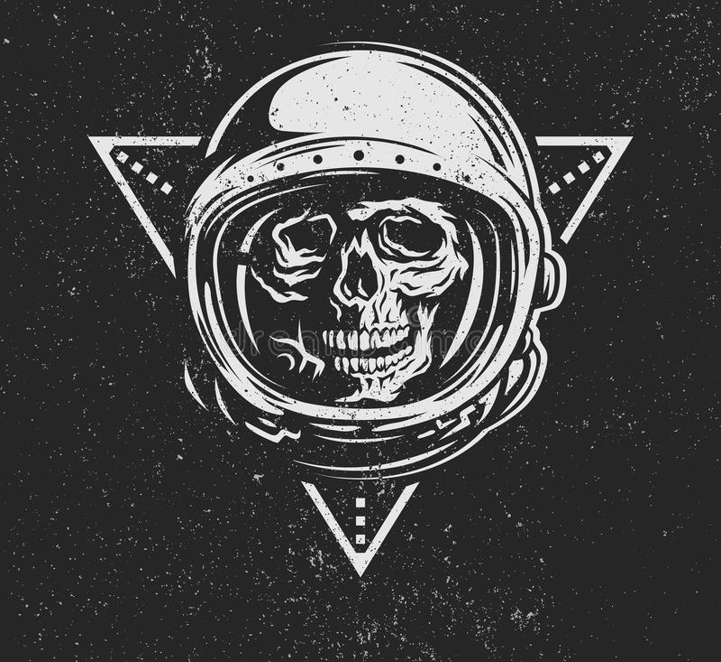 Dead astronaut in spacesuit. vector illustration
