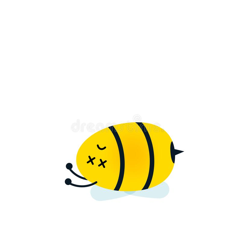 Free Dead Bee Cartoon Character Icon. Royalty Free Stock Images - 209279239
