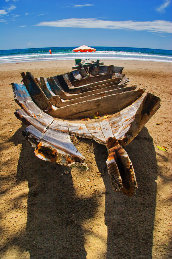 Download Dead boat on the beach stock image. Image of asia, ocean - 7484313