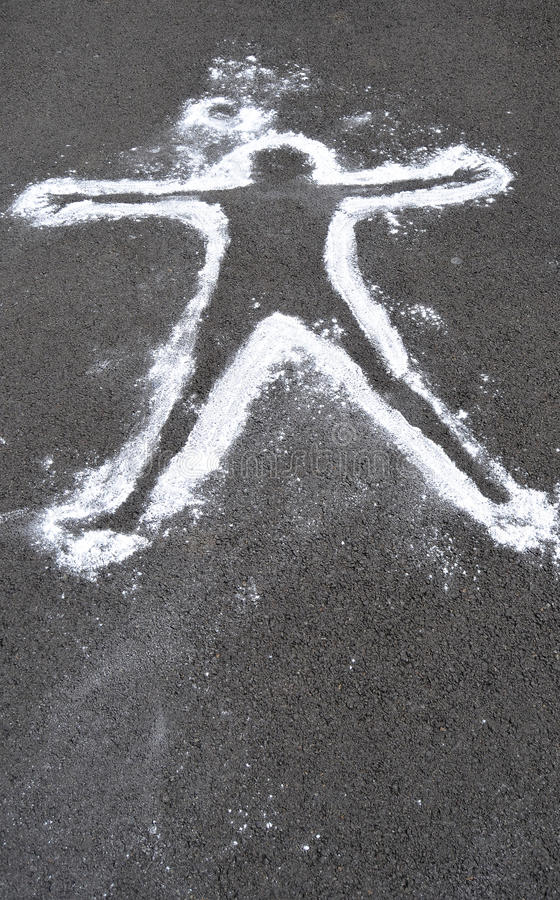Download Dead Body Chalk Outline Stock Image - Image: 15548451
