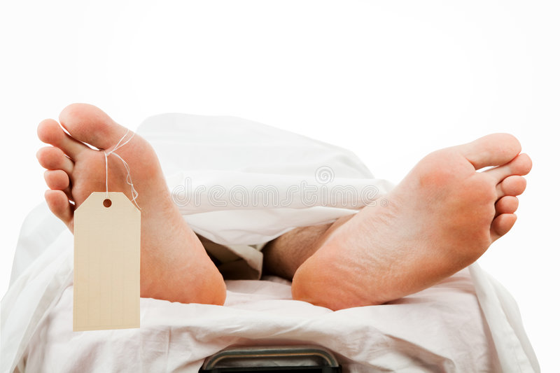 Dead Body with Clipping Path stock photography
