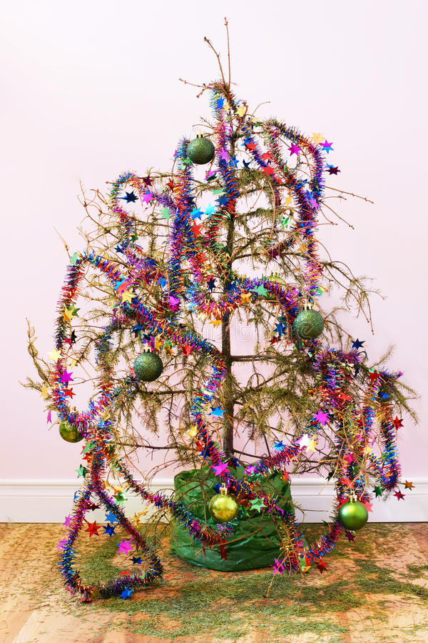 Download Dead Christmas tree stock photo. Image of party, decoration - 28413628