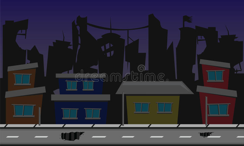 Dead city background design stock illustration