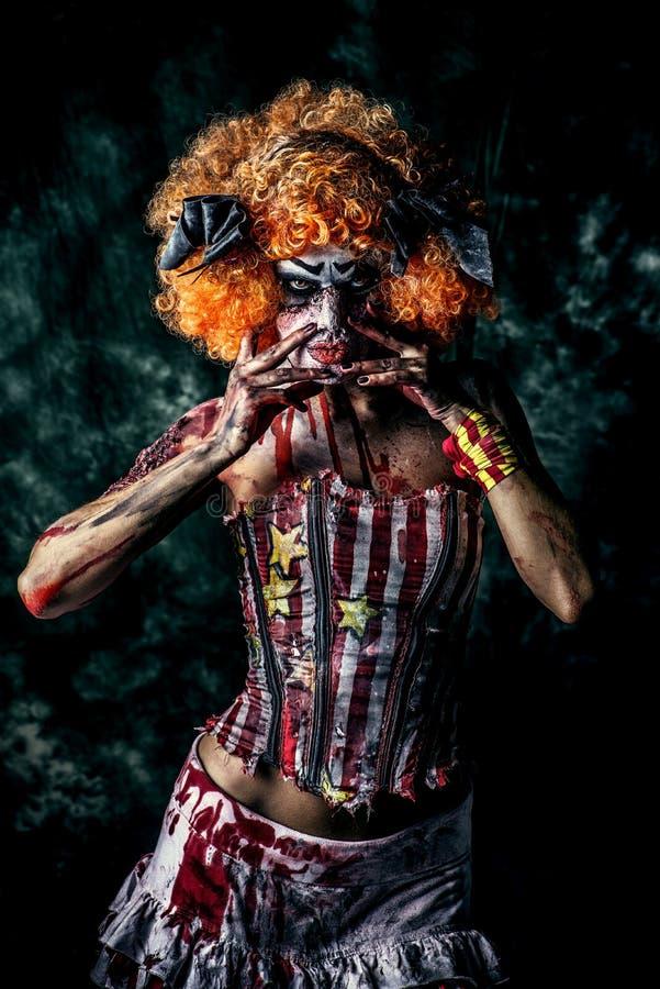 Dead clown stock image