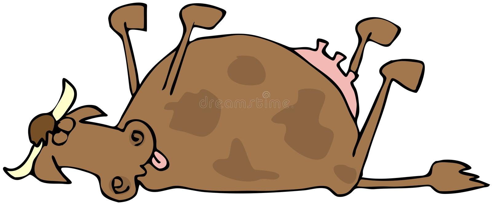 Download Dead Cow stock illustration. Image of tail, died, animal - 16410918