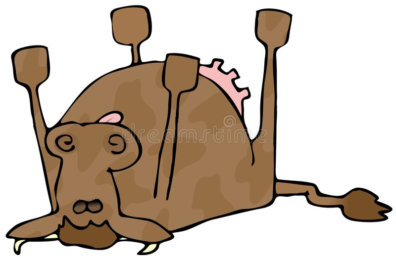 Image result for dead cow clipart