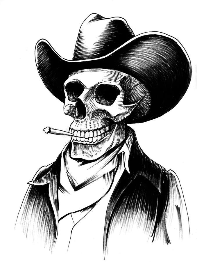 Dead cowboy royalty free illustration