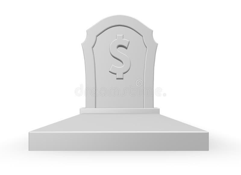 Download Dead dollar stock illustration. Image of dollar, tomb - 15533996