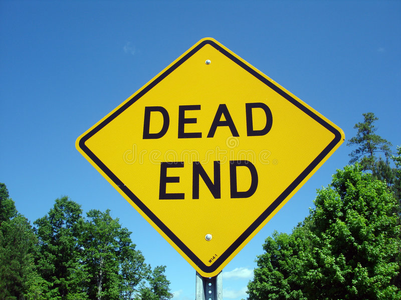 Dead End. Sign royalty free stock photos