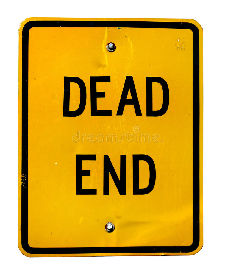 Dead end. Rectangle sign close-up royalty free stock images
