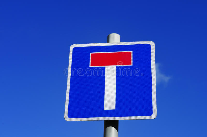 Dead End. A dead-end or no through road sign in the UK on a sunny day royalty free stock photography