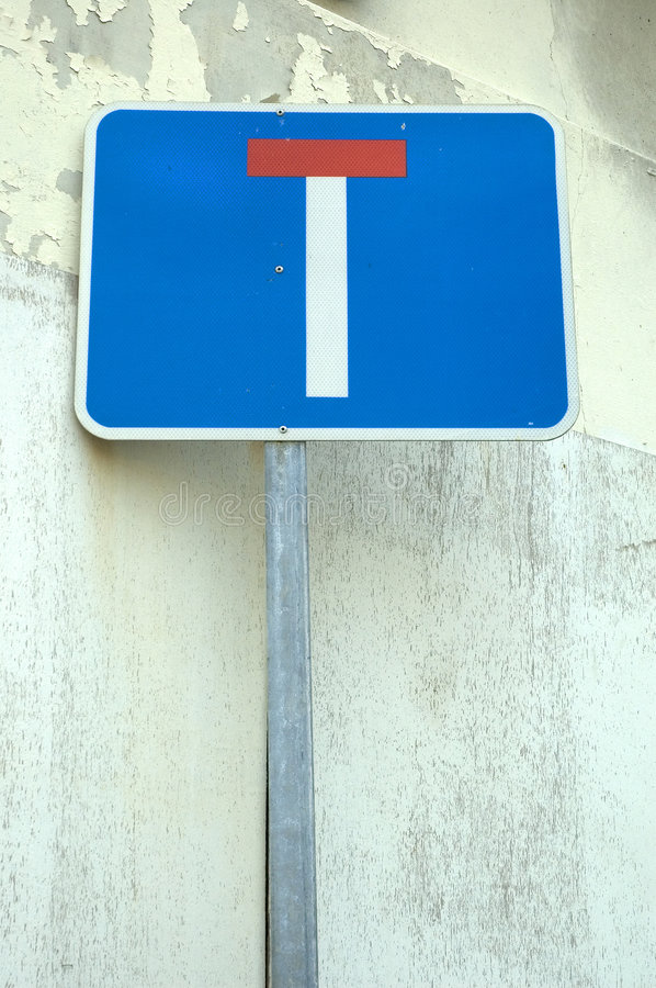 Dead End. Sign royalty free stock photo