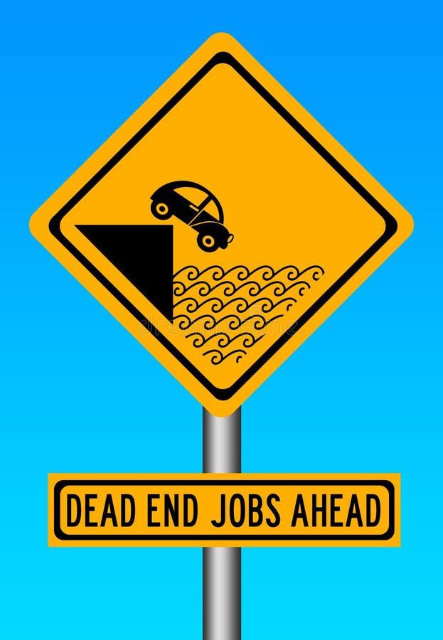 Dead end job stock illustration