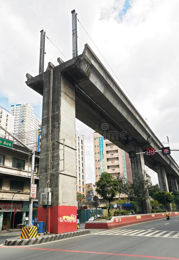 Dead end of the Light Rail Transit Line in Manila stock photos