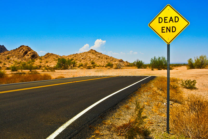 Dead end road royalty free stock images