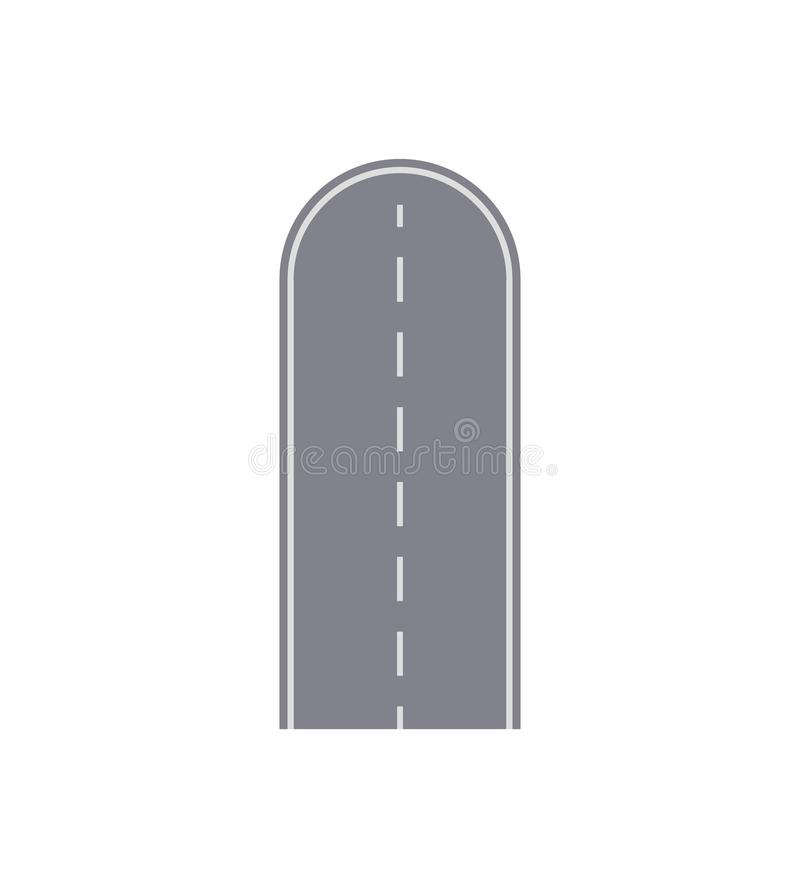 Dead end road isolated street map segment. royalty free illustration