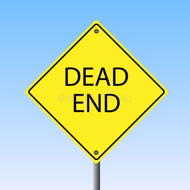 Download Dead End Sign stock vector. Image of street, white, path - 15194371