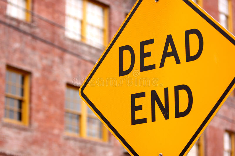 Download Dead end sign stock image. Image of outside, building - 24002221