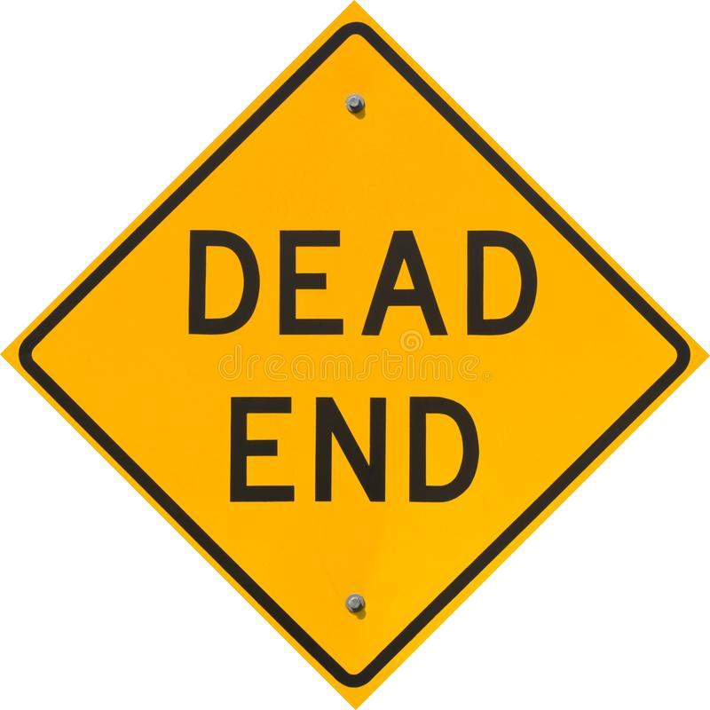 Dead End Sign. On a street in North Beach Maryland, USA stock photos