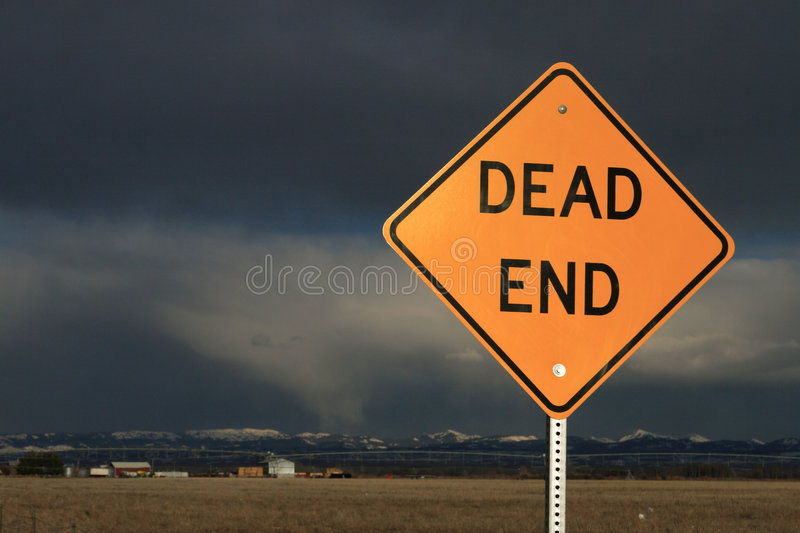 Download Dead End Sign stock image. Image of fence, signs, gray - 4963951