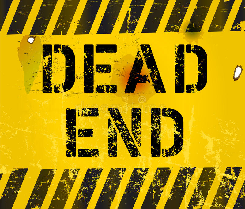 Dead end sign royalty free illustration