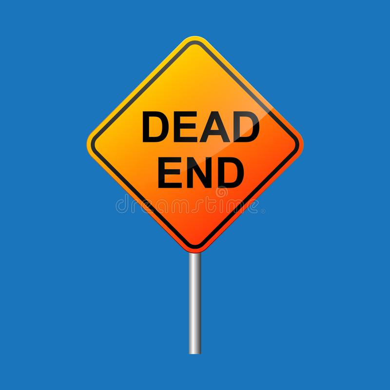 Dead end street road sign. Dead end street road sign vector flat design vector illustration