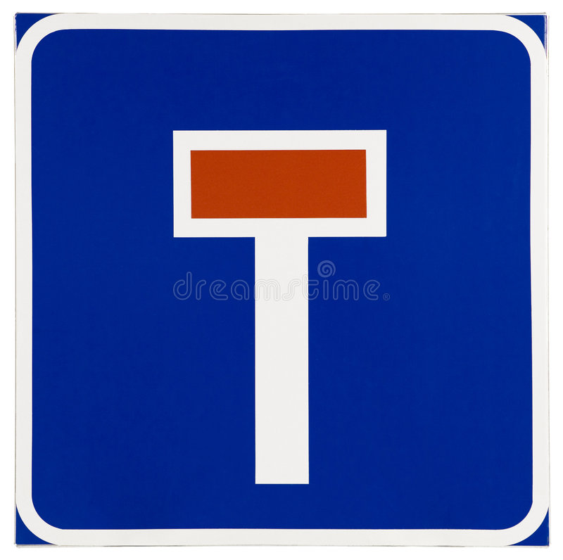 Dead End Traffic Sign. Clipping path included royalty free stock photography