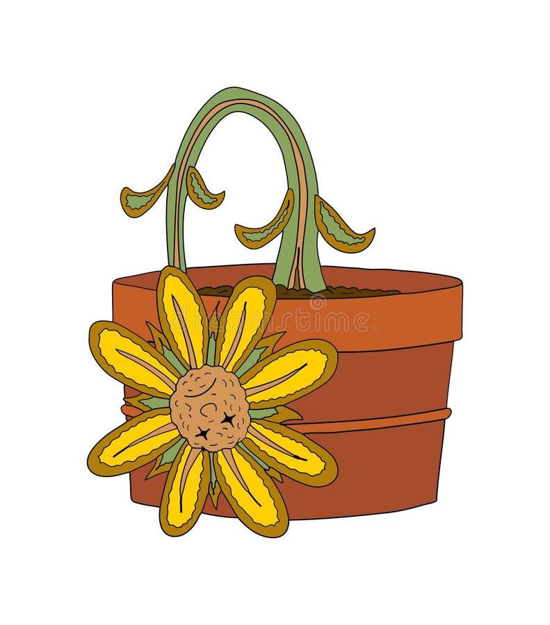 Dead flower vector illustration
