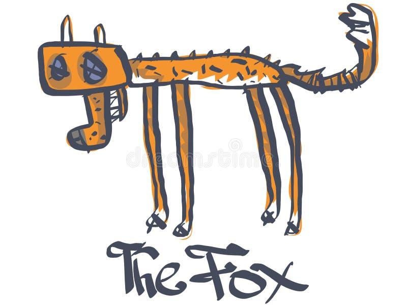 A dead fox royalty free illustration