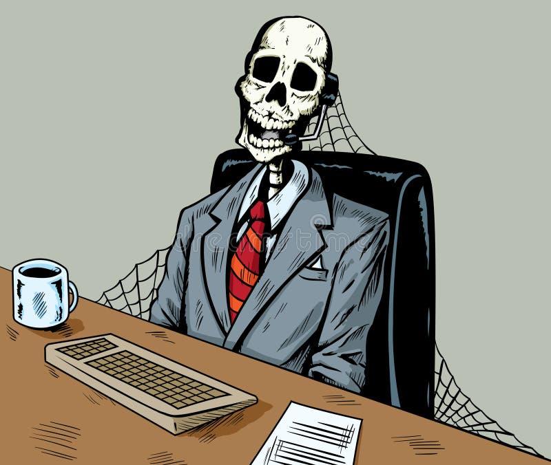 Dead i call center royaltyfri illustrationer