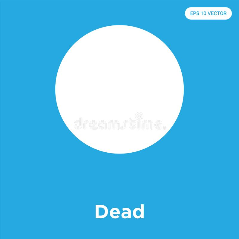 Dead Icon Isolated On Blue Background Dead Icons Collection Stock
