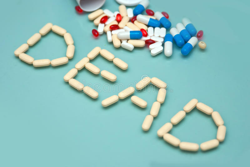 Download Dead Made Of Capsules And Pills Stock Image - Image: 13717641