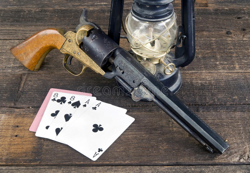 Dead Man`s Hand. royalty free stock images