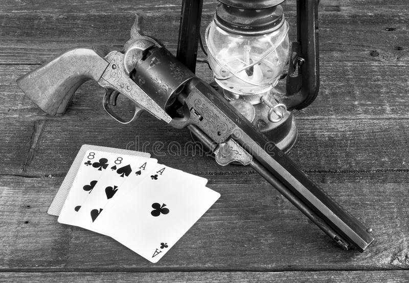 Dead Man`s Hand. stock images