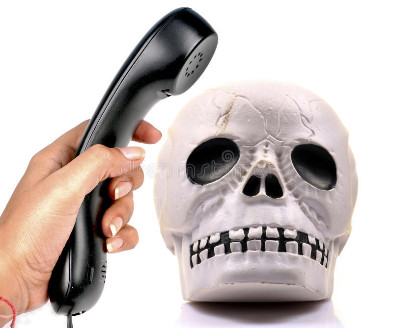 Download Dead phone stock photo. Image of concept, skkull, hand - 24675346
