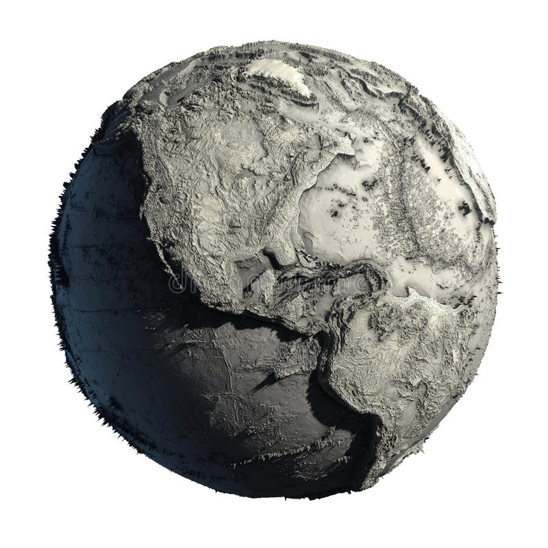 Dead Planet Earth. Without water - the global ecological catastrophe, a fantastic assumption of the future stock illustration
