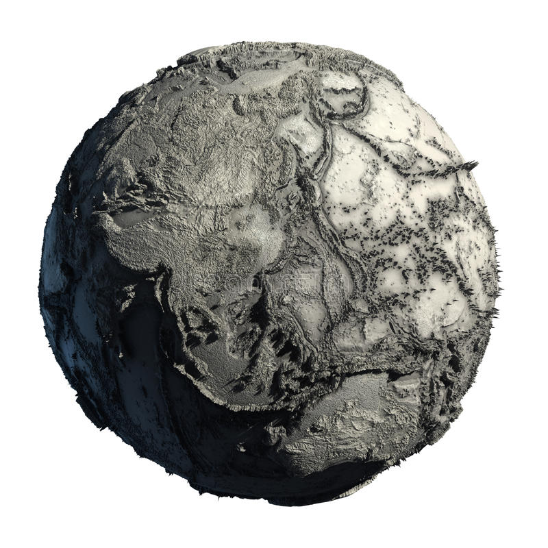 Dead Planet Earth. Without water - the global ecological catastrophe, a fantastic assumption of the future royalty free illustration