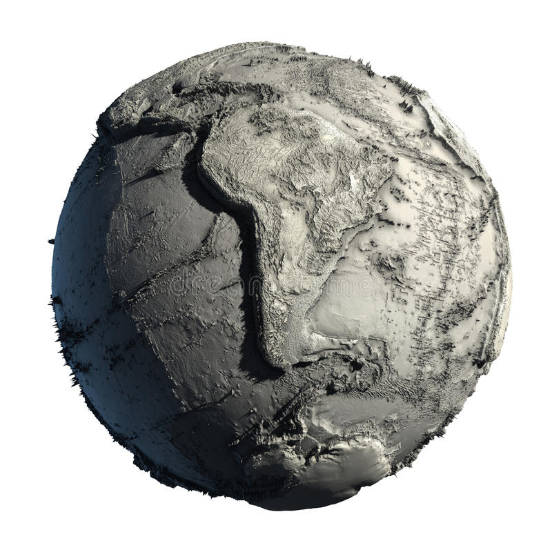 Dead Planet Earth. Without water - the global ecological catastrophe, a fantastic assumption of the future vector illustration