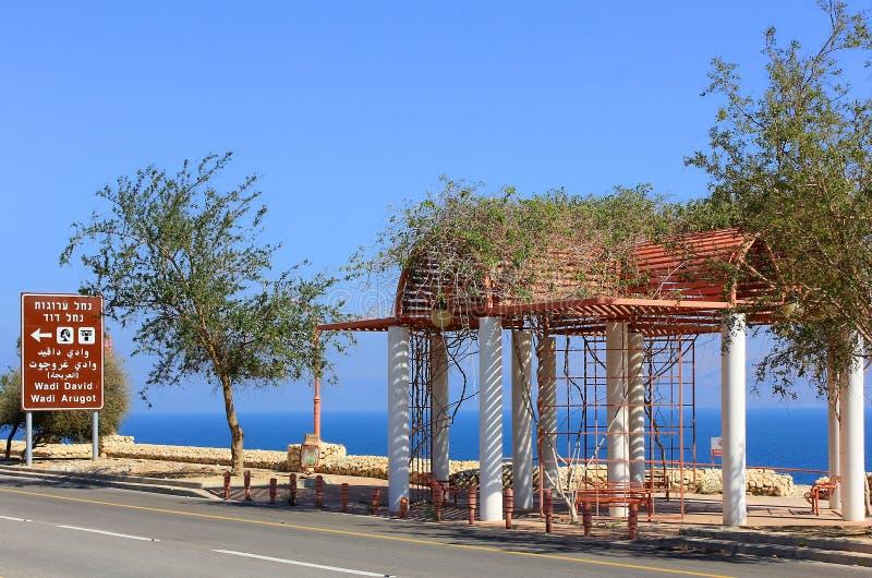 Dead Sea, beach Ein Gedi, Israel royalty free stock photo