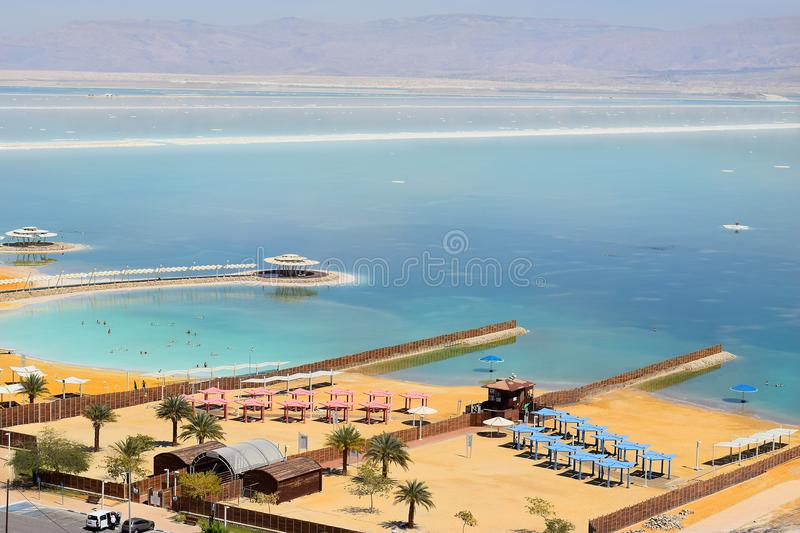 Landscape at the Dead Sea, Israel shore royalty free stock photography