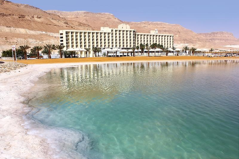 Landscape at the Dead Sea, Israel shore stock image
