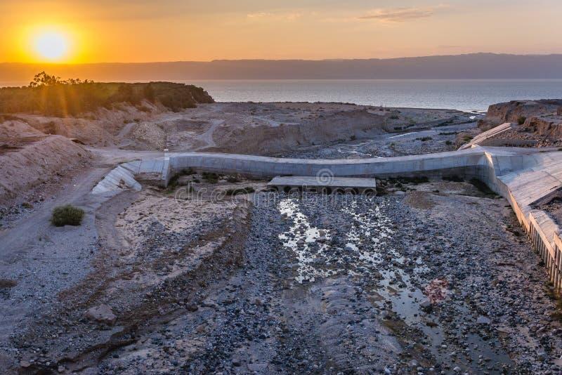 Dead Sea in Jordan stock photo