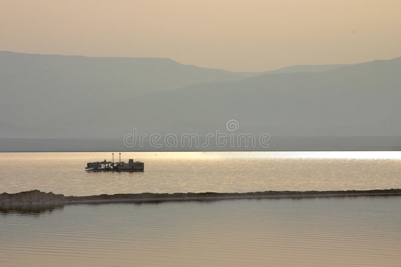 Dead sea morning royalty free stock images