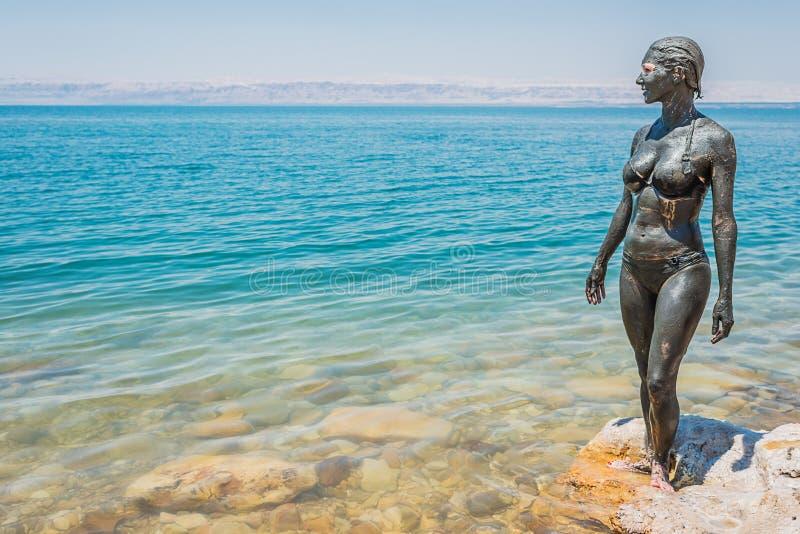 Dead sea mud body care treatment jordan stock photos