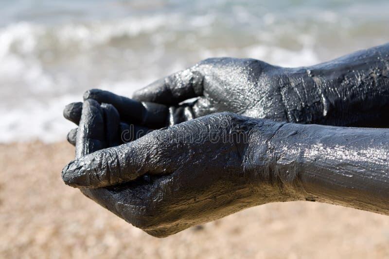 Dead sea mud - Jordan stock images