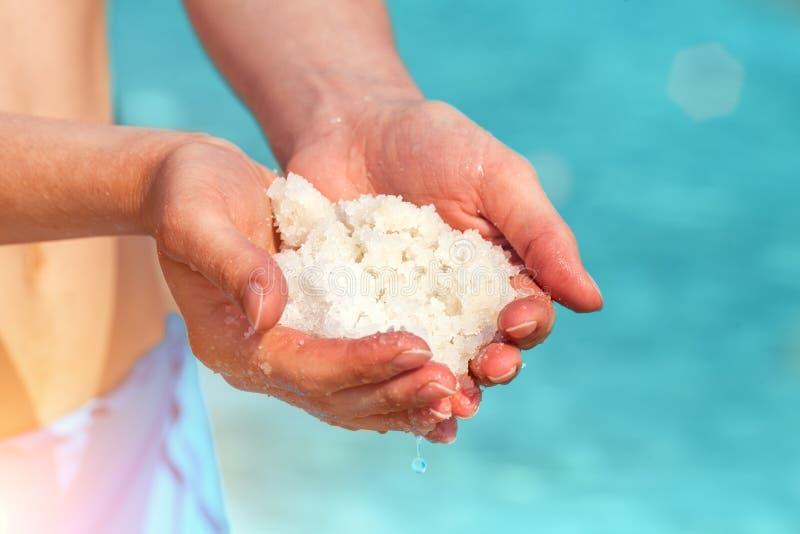 Dead Sea salt stock images
