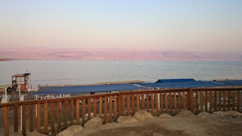 Dead sea salty shore. Wild nature. Tropical landscape. Summertime royalty free stock image